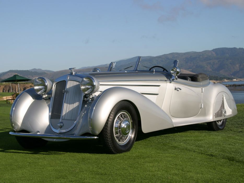 1938 Horch 853 Special Roadster by Erdmann & Rossi retro luxury convertible   hs wallpaper