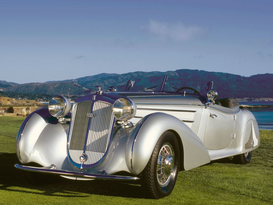 1938 Horch 853 Special Roadster by Erdmann & Rossi retro luxury convertible  w wallpaper
