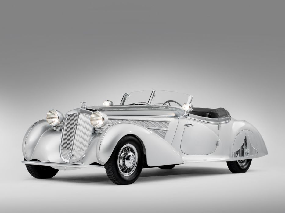 1938 Horch 853 Special Roadster by Erdmann & Rossi retro luxury convertible wallpaper