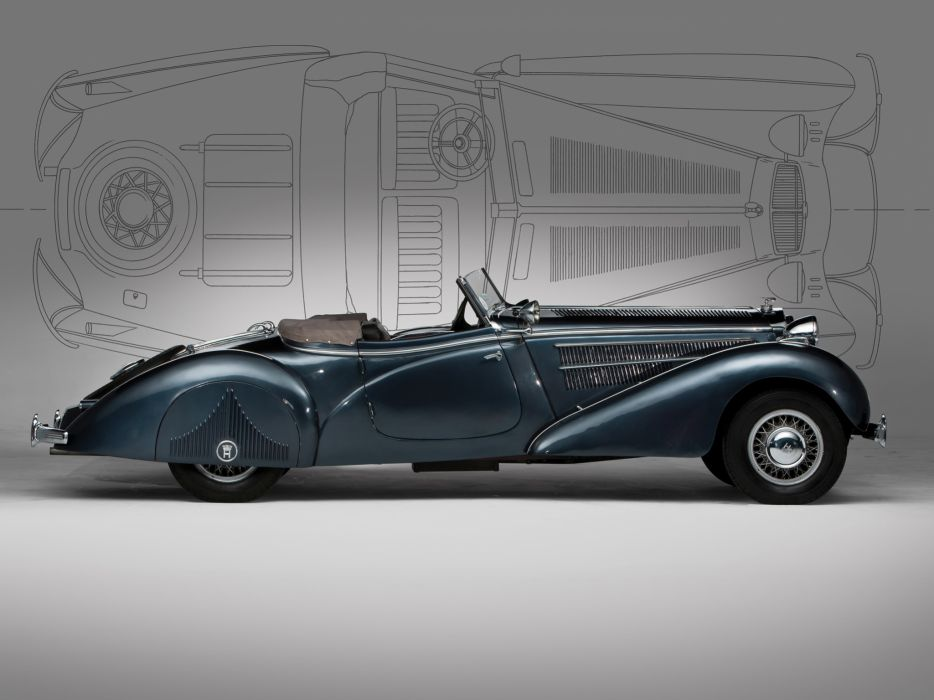 1938 Horch 853 Special Roadster retro luxury convertible  f wallpaper