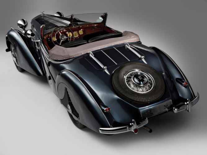 1938 Horch 853 Special Roadster retro luxury convertible interior g wallpaper