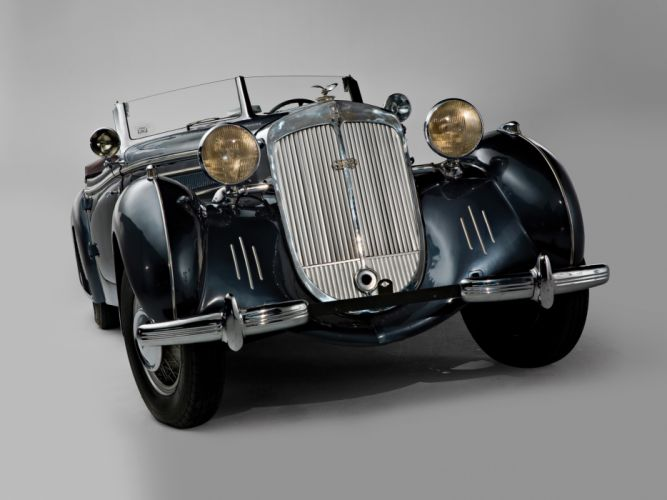 1938 Horch 853 Special Roadster retro luxury convertible wallpaper
