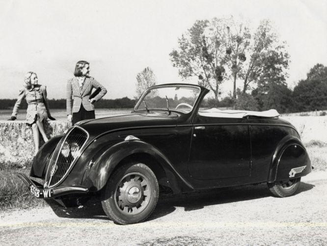 1938 Peugeot 202 Cabriolet D2 retro convertible wallpaper