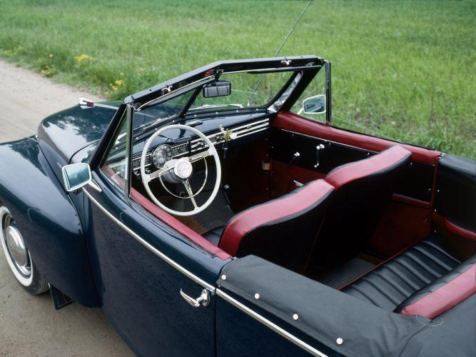 1950 Volvo PV444 445 Cabriolet convertible retro interior h wallpaper