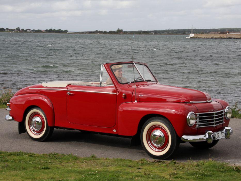 1950 Volvo PV444 445 Cabriolet convertible retro    g wallpaper