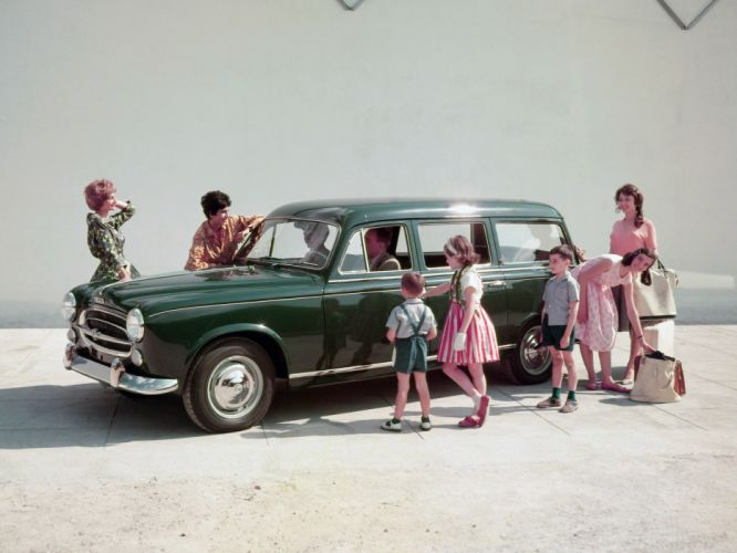 1955 Peugeot 403 Familiale stationwagon retro wallpaper