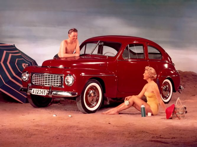 1955 Volvo PV444 KS retro wallpaper