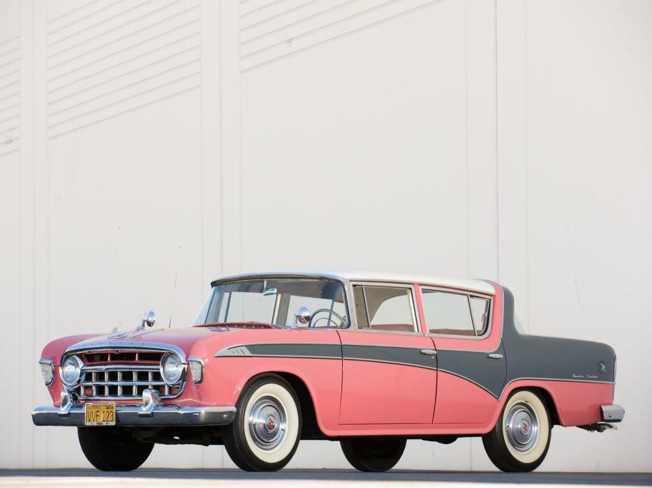1956 Rambler Custom 4-door Sedan retro wallpaper