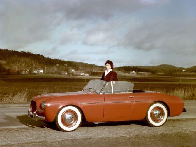 1956 Volvo P1900 Sport convertible retro wallpaper