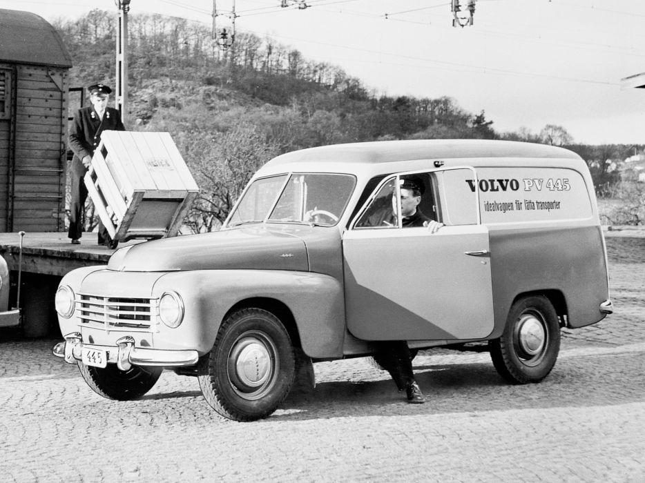 1958 Volvo PV445 DS Duett delivery stationwagon retro wallpaper