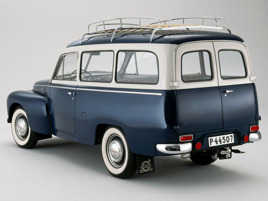 1958 Volvo PV445 PH Duett stationwagon retro    g wallpaper