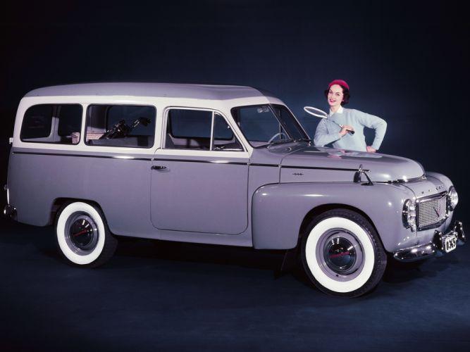 1958 Volvo PV445 PH Duett stationwagon retro gs wallpaper