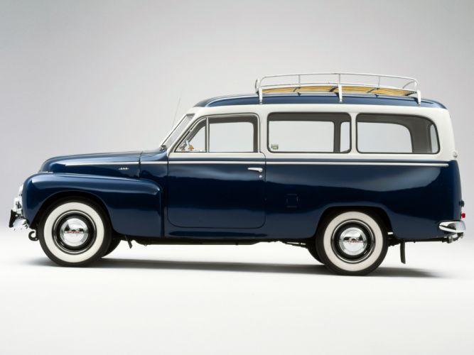 1958 Volvo PV445 PH Duett stationwagon retro fg wallpaper