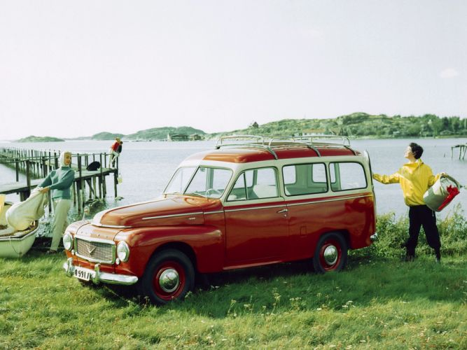 1958 Volvo PV445 PH Duett stationwagon retro s wallpaper