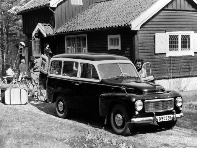 1958 Volvo PV445 PH Duett stationwagon retro sw wallpaper