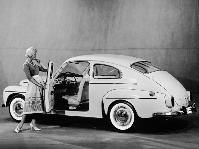 1958 Volvo PV544 A retro interior f wallpaper