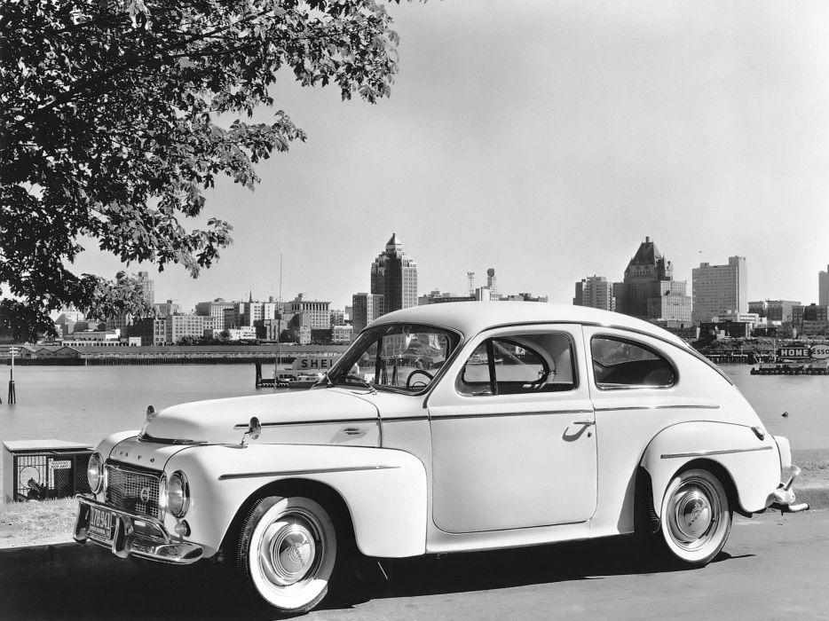 1958 Volvo PV544 A US-spec retro wallpaper