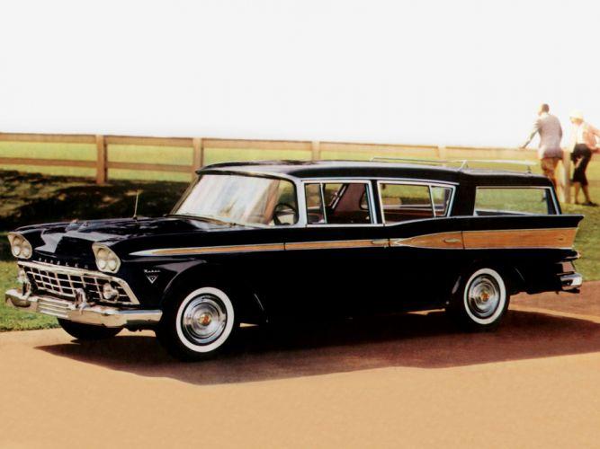 1959 AMC Rambler Custom Cross Country stationwagon retro wallpaper
