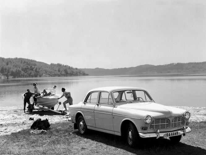 1959 Volvo 122S P120 retro d wallpaper
