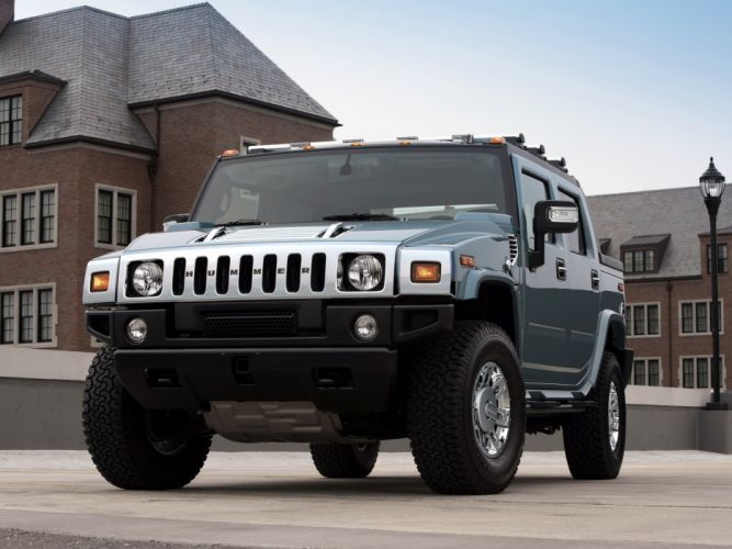 2007 Hummer H2 SUT Glacier Blue Limited Edition suv 4x4 h-2 f wallpaper