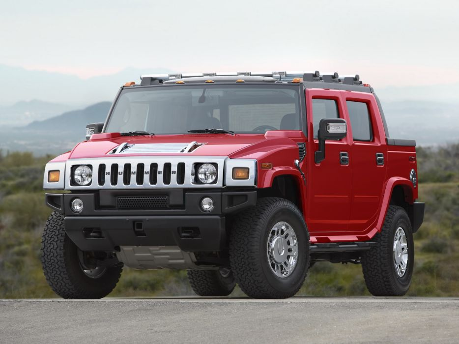 2007 Hummer H2 SUT Victory Red Limited Edition 4x4 suv h-2   g wallpaper