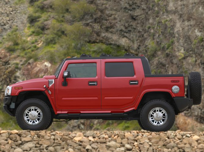 2007 Hummer H2 SUT Victory Red Limited Edition 4x4 suv h-2 f wallpaper