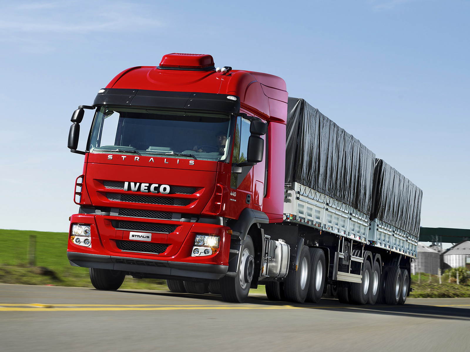 2012 Iveco Stralis 440 6x4 AT BR-spec semi tractor wallpaper