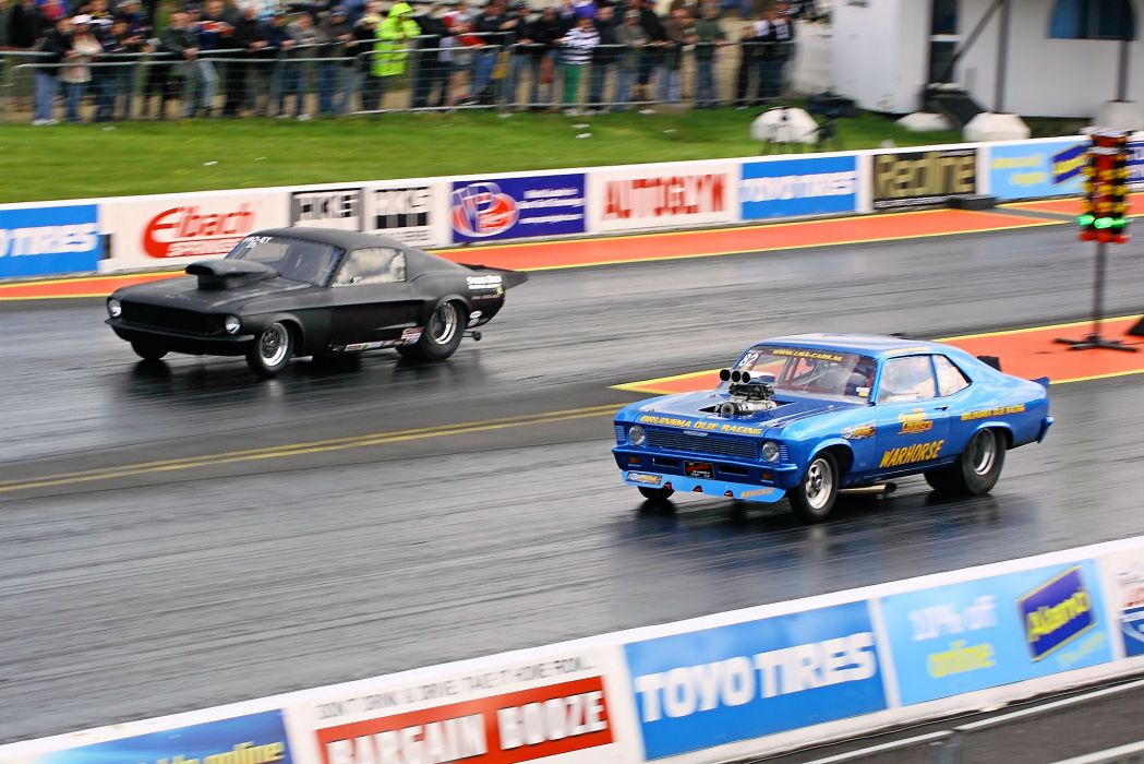 drag racing race hot rod rods chevrolet nova ford mustang muscle       g wallpaper
