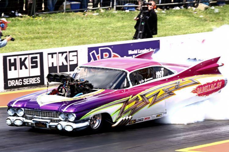 drag racing race hot rod rods Pro-Mod cadillac Coupe de Ville g wallpaper