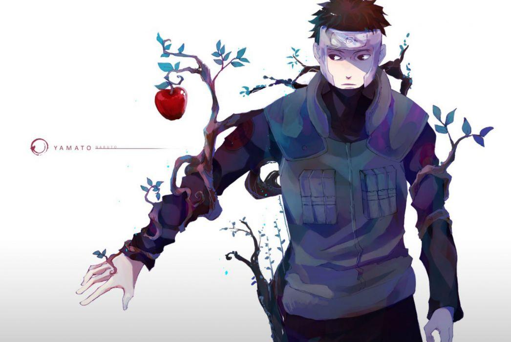 Naruto Apple Black Eyes Brown Hair Headband Leaves Naruto Naruto