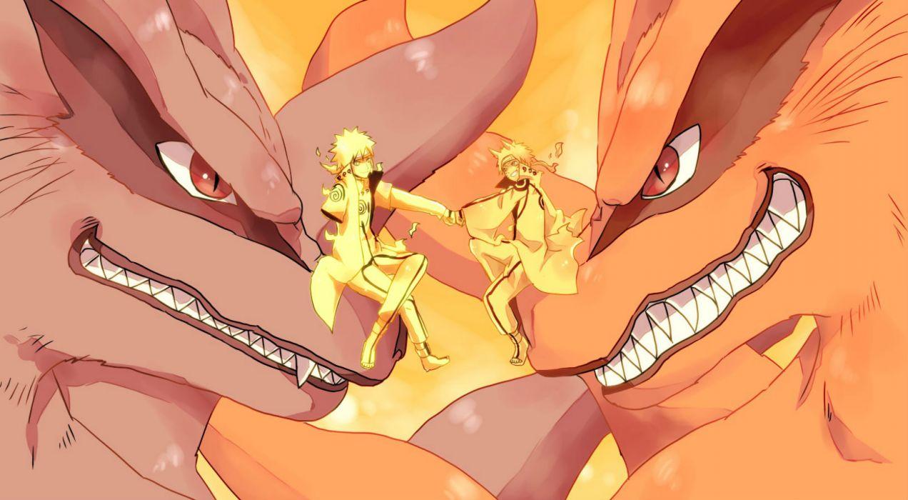 naruto fang kurama (naruto) male multiple tails namikaze minato naruto naruto shippuden o96ap red eyes uzumaki naruto wallpaper