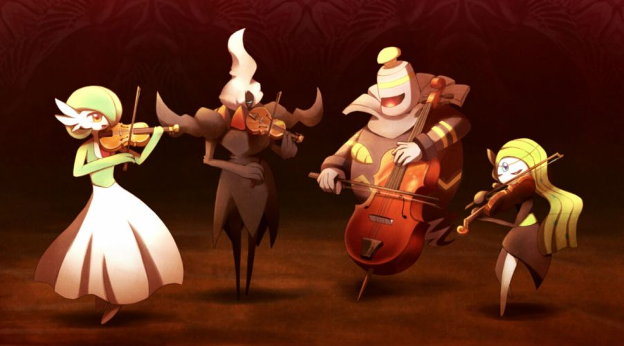 pokemon darkrai dusknoir gardevoir instrument meloetta pokemon ribero violin wallpaper