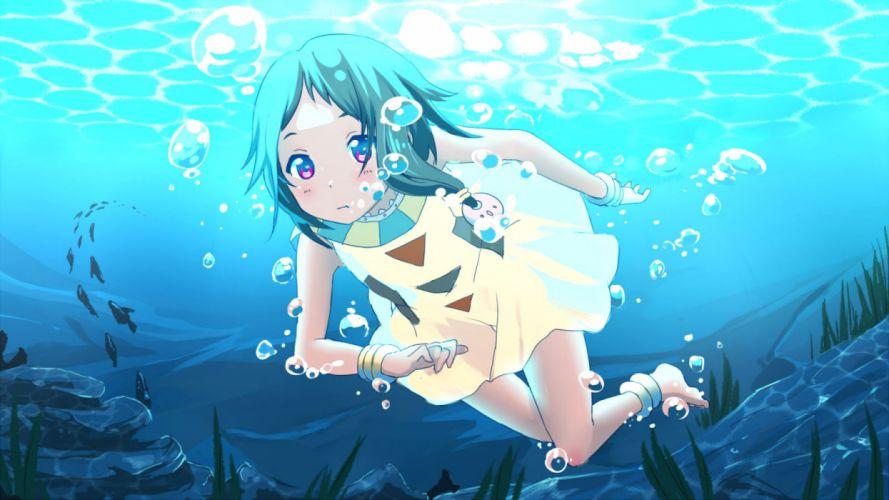 tamako market akihikohex choi mochimazzui tamako market water underwater wallpaper