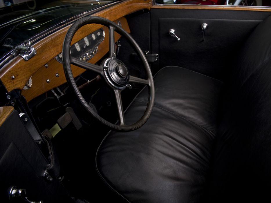 1929 Stutz Model-M Vertical Eight Town Car retro luxury interior      h wallpaper