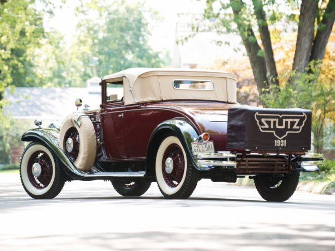 1931 Stutz Model-M SV16 Convertible Coupe by Derham retro f wallpaper