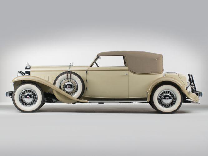 1933 Stutz DV32 Convertible Victoria by Rollston retro luxury t wallpaper