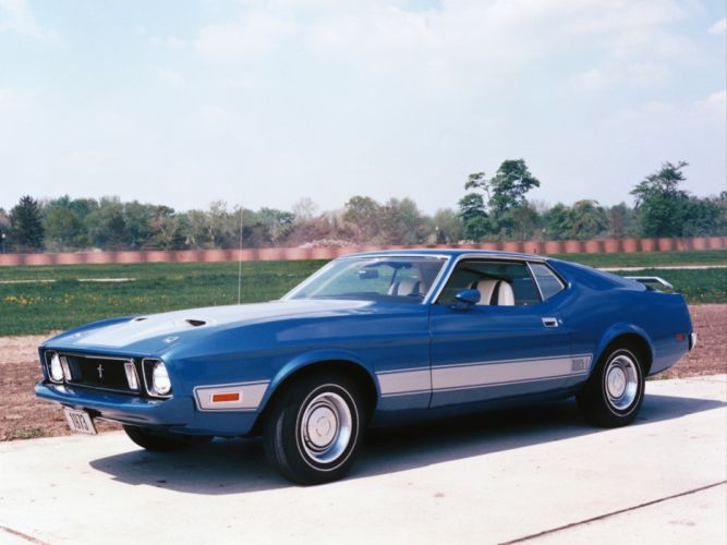 1973 Ford Mustang Mach-1 muscle classic wallpaper
