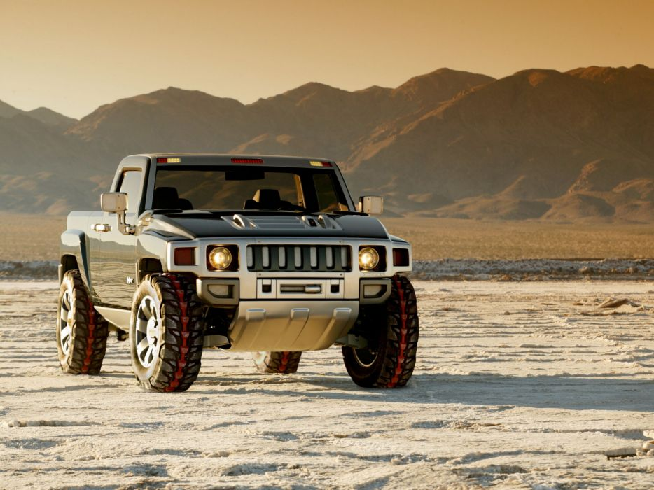2004 Hummer H3T Concept 4x4 suv h-3 pickup wallpaper