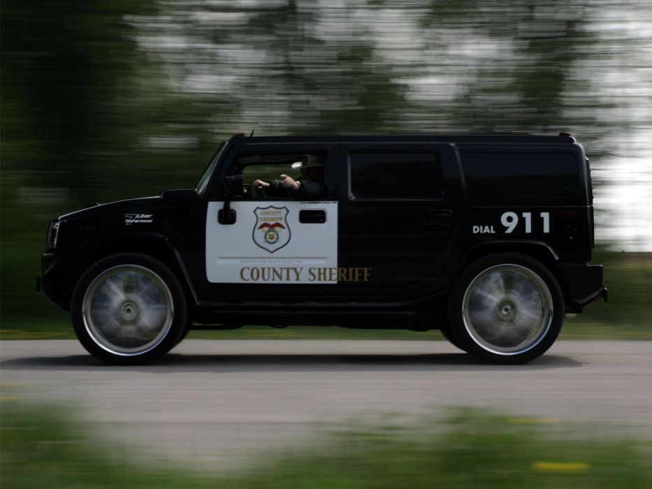 2006 Geiger Hummer H2 Police tuning 4x4 suv h02 emergency wallpaper