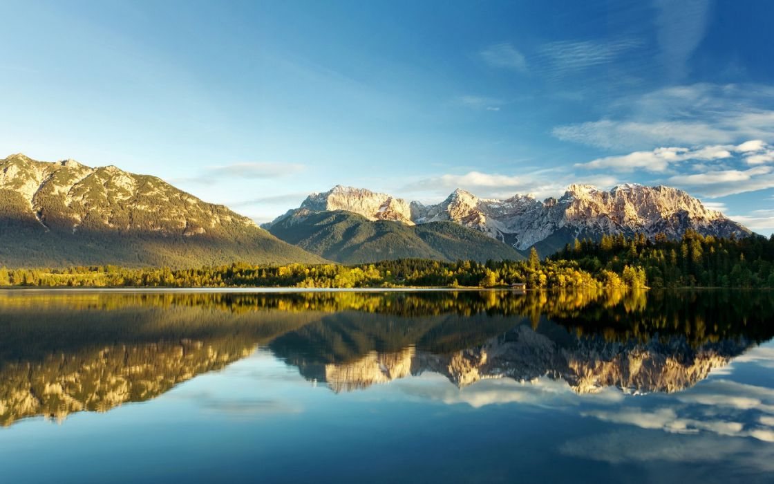 Landscape Lake mountains wallpaper
