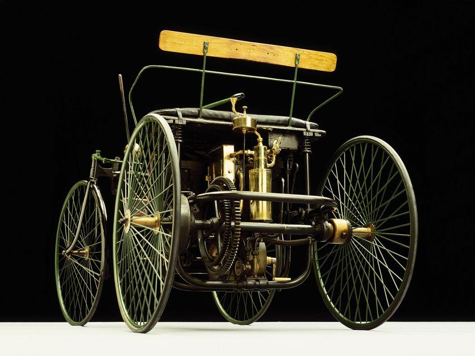 1889 Daimler Wire-Wheel Car retro wheel engine      f wallpaper