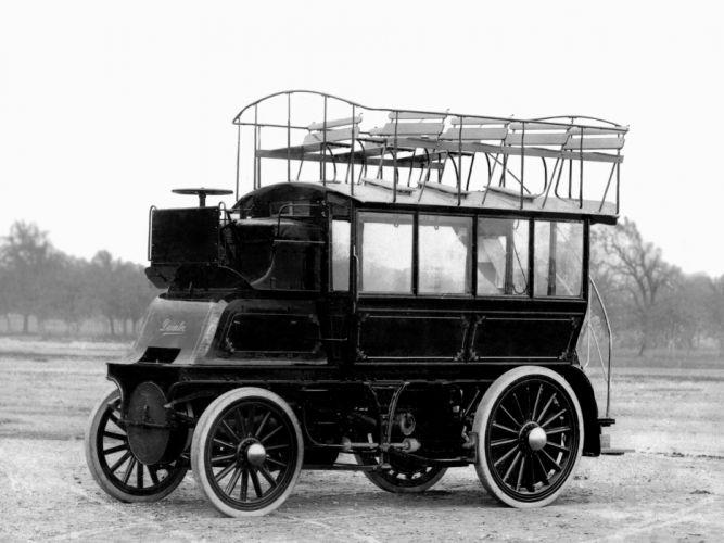 1899 Daimler Imperial Double-Decker Bus transport retro wallpaper