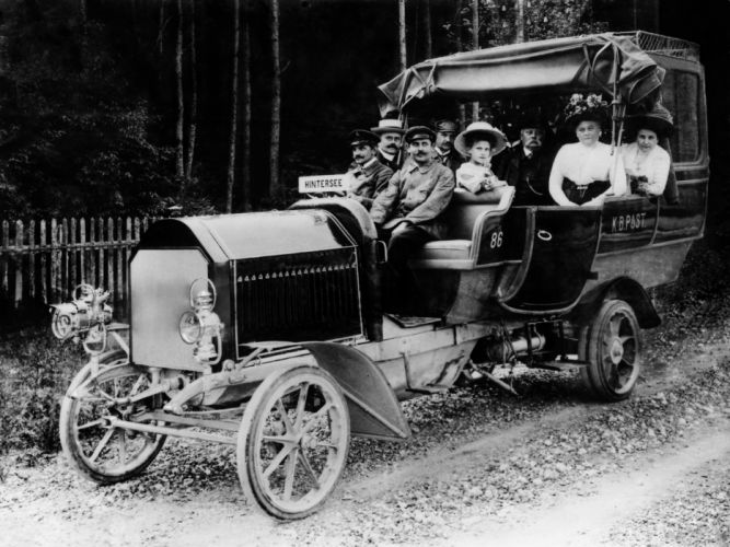 1906 Daimler Model-D4 retro wallpaper