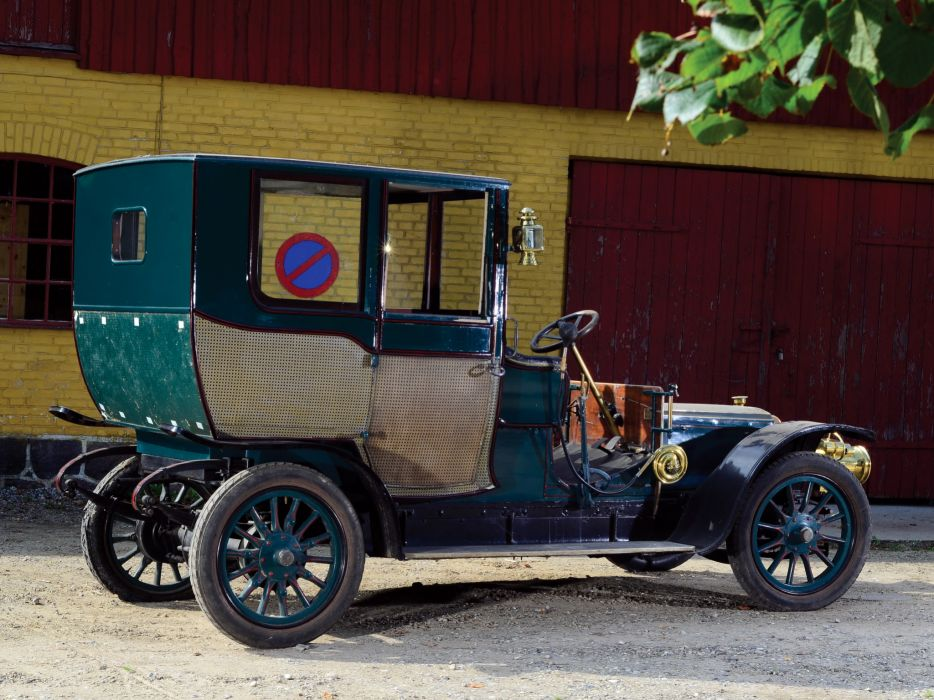 1908 Panhard Levassor Type-X1 Coupe Chauffeur by Rothschild & Fils retro     f wallpaper