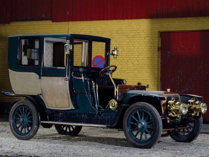 1908 Panhard Levassor Type-X1 Coupe Chauffeur by Rothschild & Fils retro wallpaper