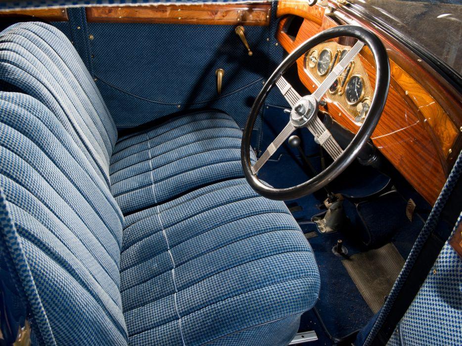 1930 Panhard Levassor 6DS Berline X66 20 CV retro interior       g wallpaper