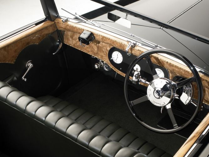 1931 Daimler Double Six 50 Sport Corsica Drophead Coupe retro interior g wallpaper