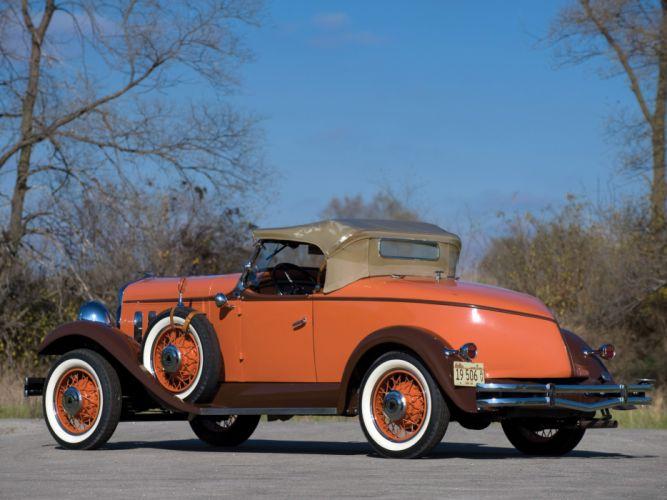 1931 Hudson Greater Eight Sport Roadster Series-T retro f wallpaper