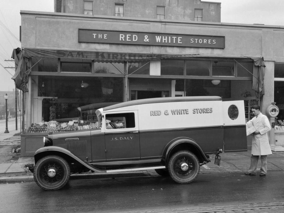 1931 International D-1 Delivery Panel Truck retro wallpaper