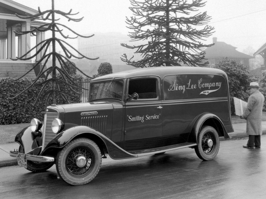 1934 International C-1 Panel Truck retro   fa wallpaper